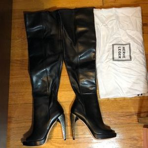 Herve Leger Nora over-the-knee boots